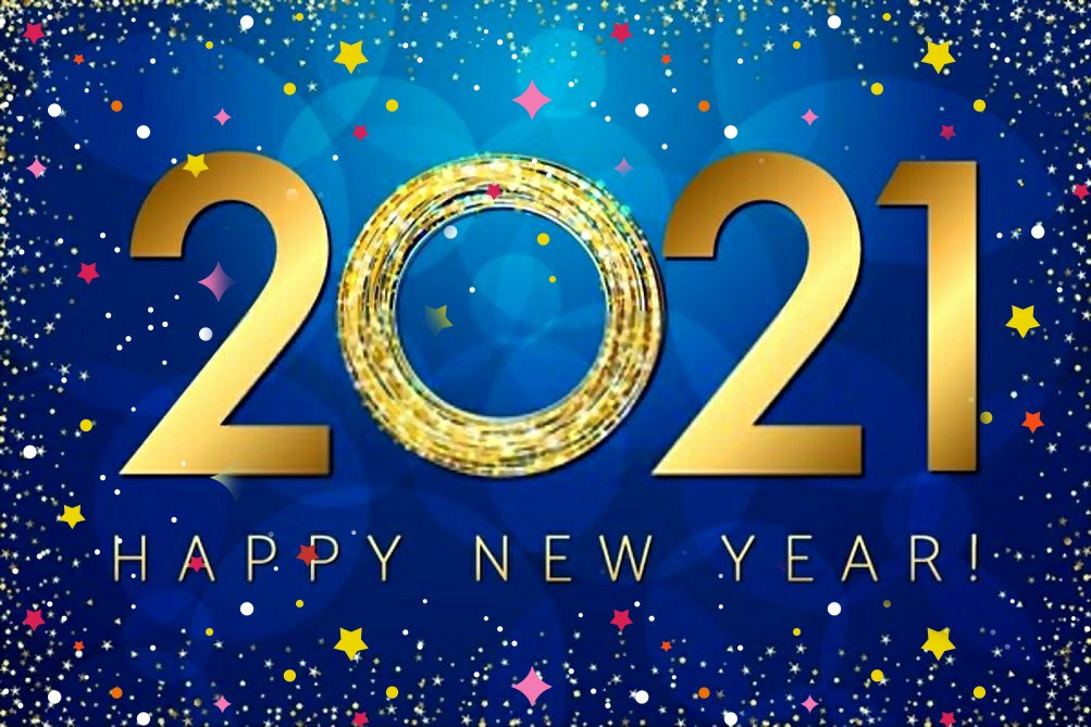 Happy New Year 2021 stars image