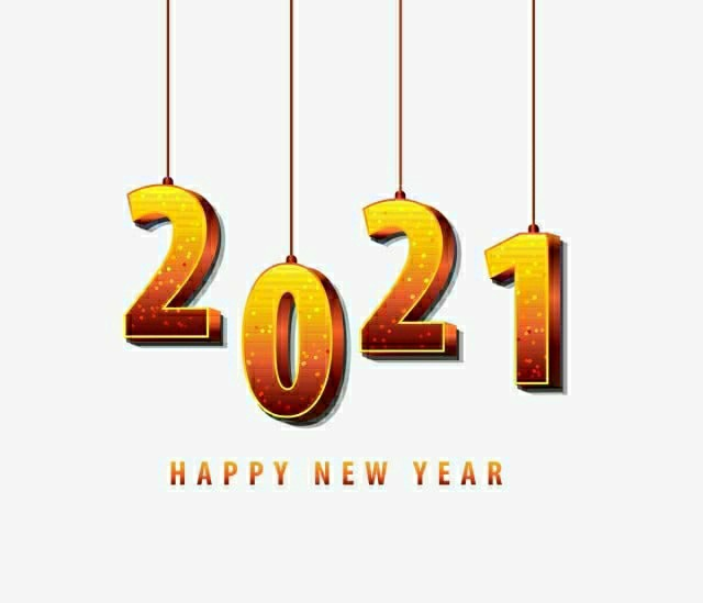happy new year 2021 hanging image