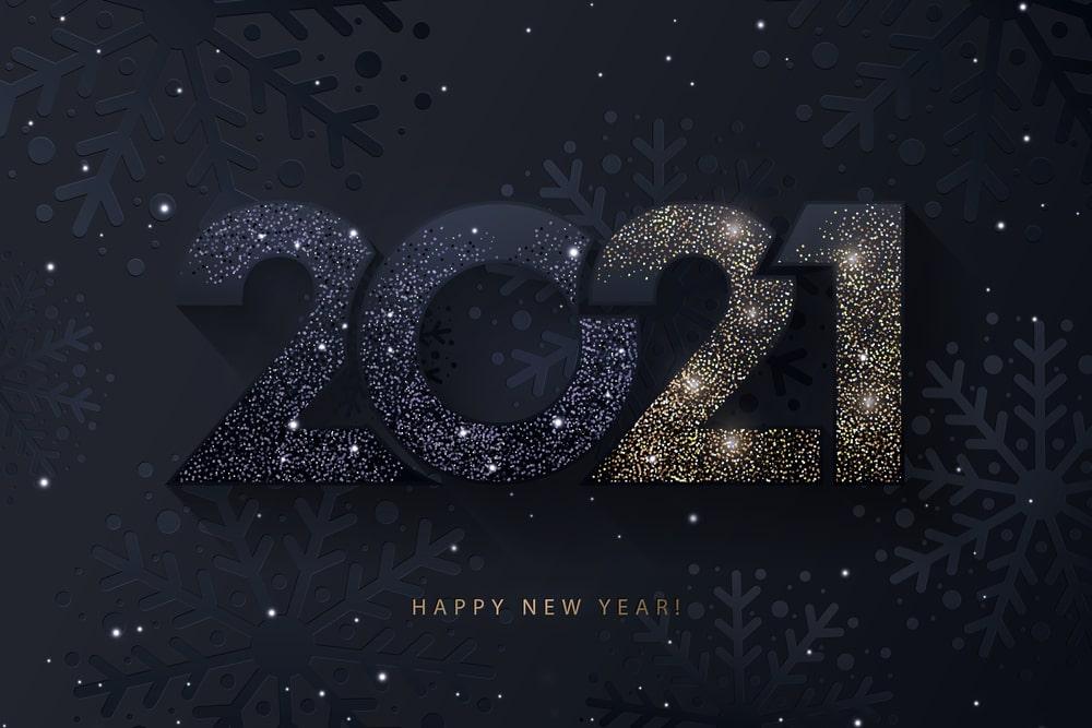 Happy new year 2021 dark image