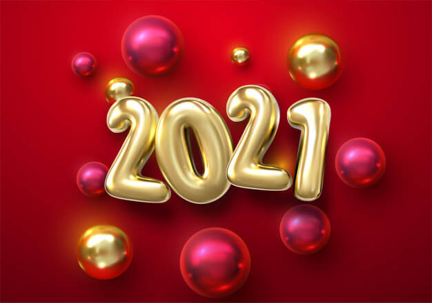 Happy new year 2021 bubbles image