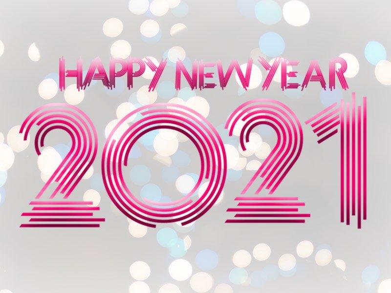 Happy new year 2021 purple image