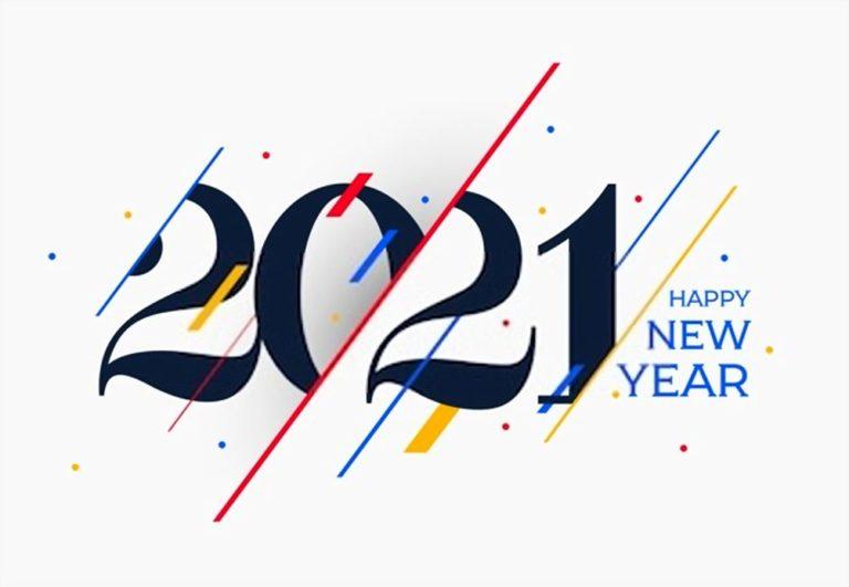 happy new year 2021 white image