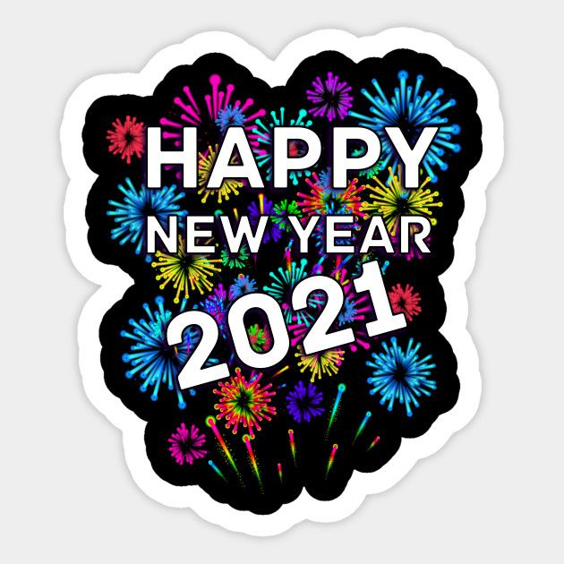 happy new year 2021 colors image