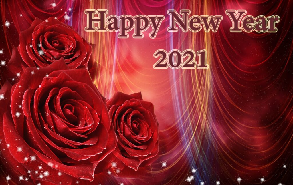 Happy new year 2021 rose image