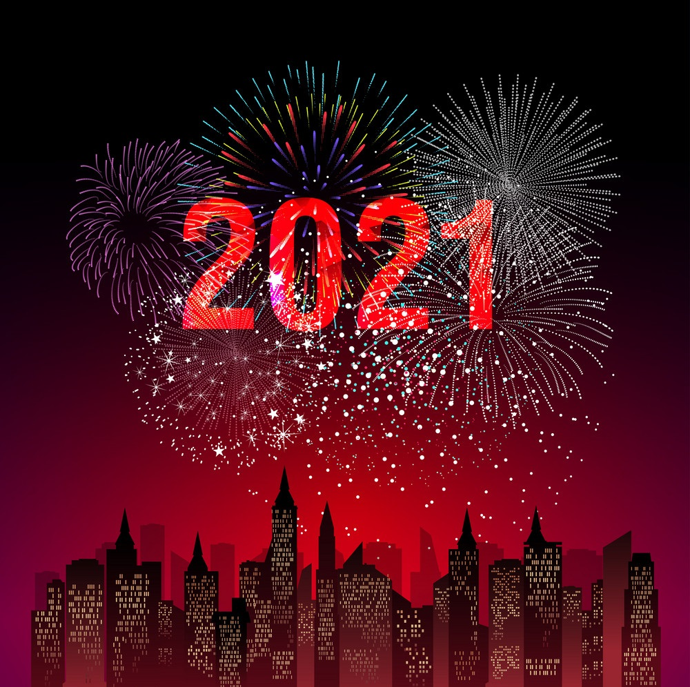 Happy new year 2021 crackers image