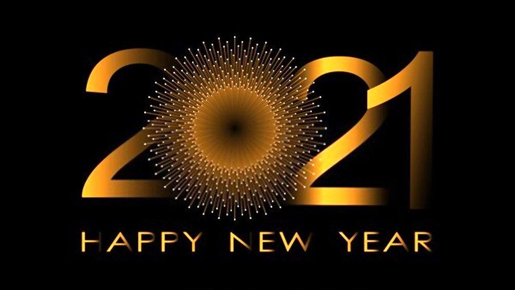 Happy New Year 2021 sun image
