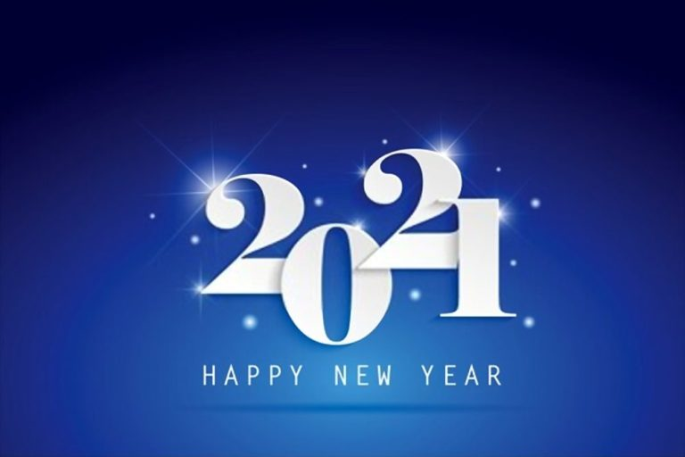 Happy new year 2021 blue image