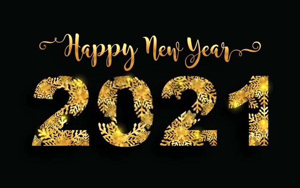 Happy New Year 2021 shine image
