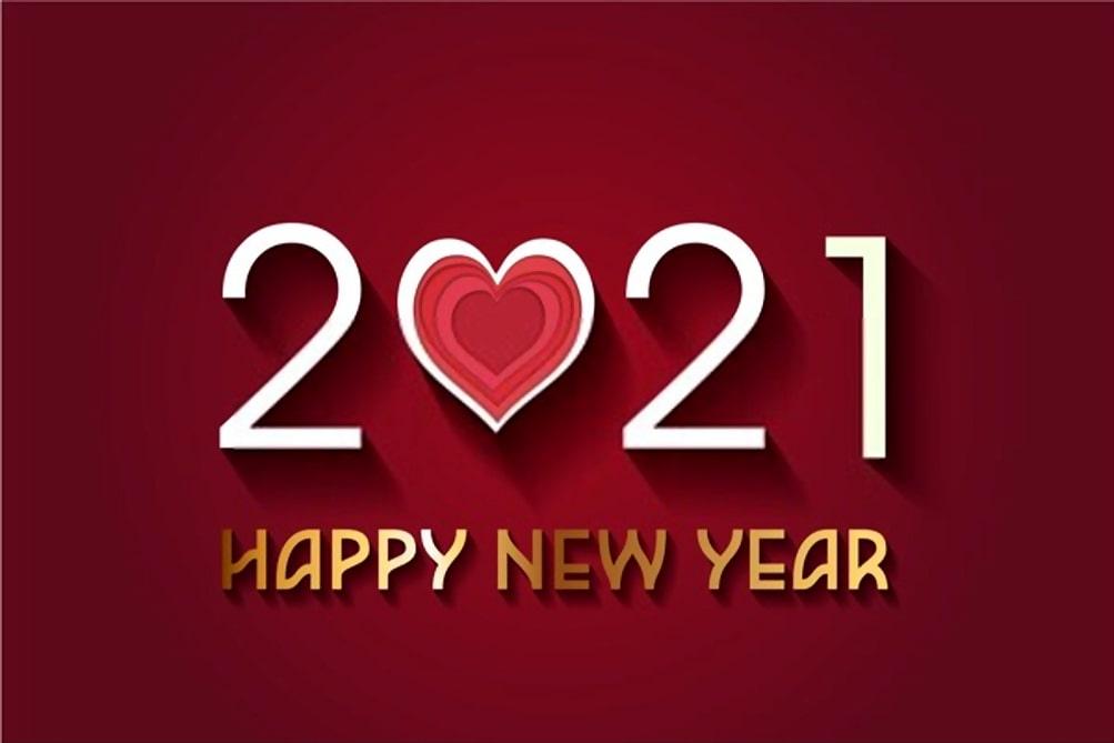 Happy new year 2021 heart image