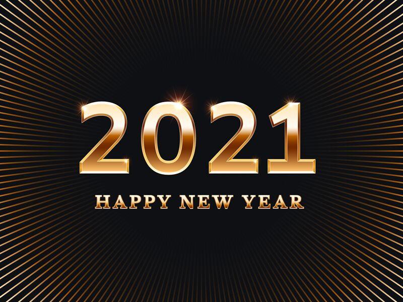 happy new year 2021 shining image